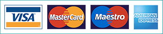 We accept major credit and debit cards payments