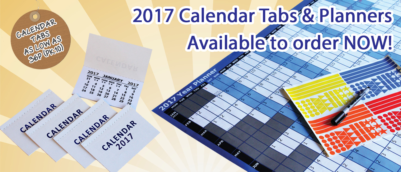 2017 Calendars now in stock - year planners, calendar tabs and other calendars. Order now!