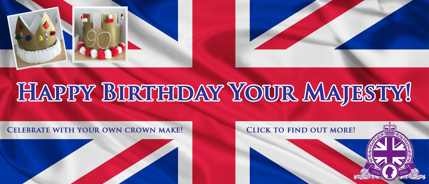 Queen's 90th Birthday Make Your Own Crown