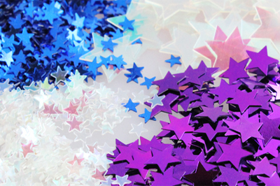 Huge range of confetti sparkles and table decorations
