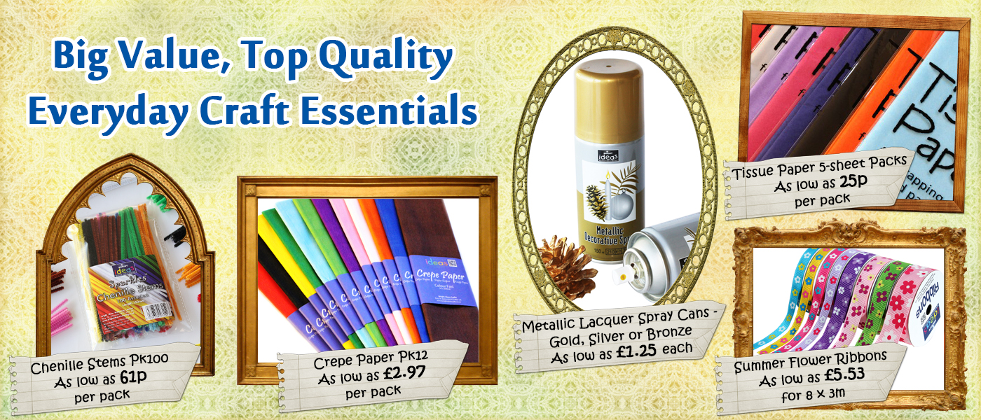 Stock up on everyday craft essentials at wholesale prices