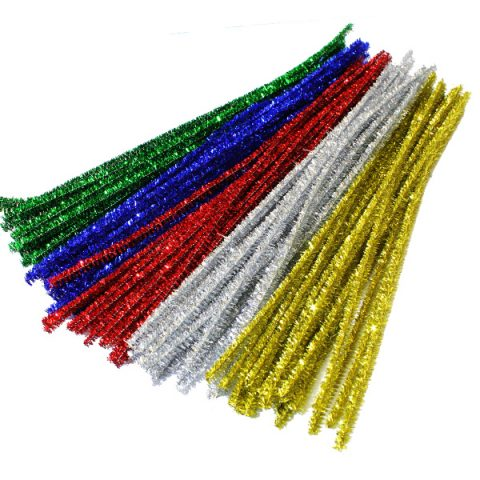 Tinsel pipe cleaner craft stems