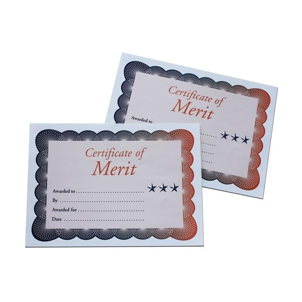 BI0064 Certificate of Merit A4 pk50
