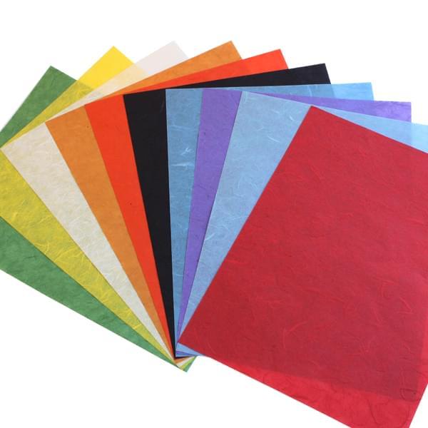 Fibre Silk Paper PK10 Assorted Sheets