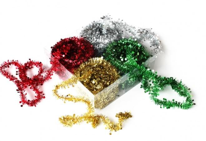 BI0524 Star Tinsel Garlands 10m