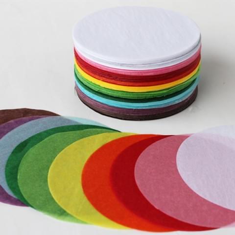 BI0617 Tissue Paper Circles pk480 Sheets 125mm