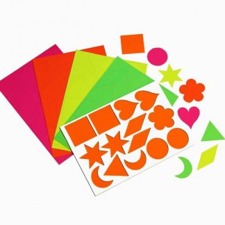 BI1025 Fluorescent Card Shapes pk308