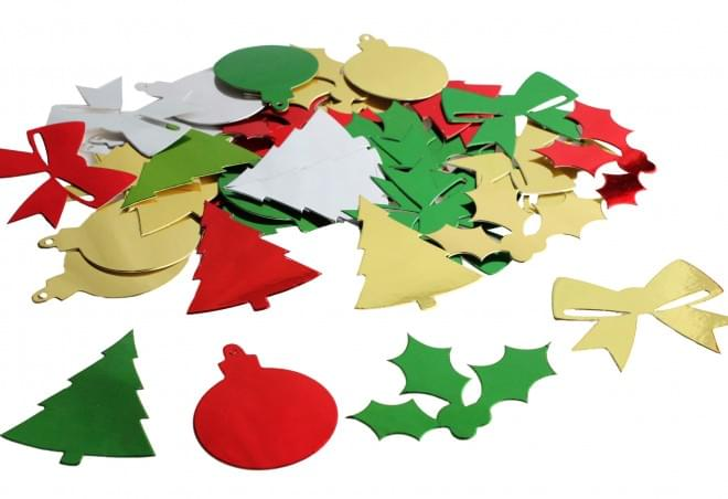 BI1035 Metallic Christmas Shapes 30g