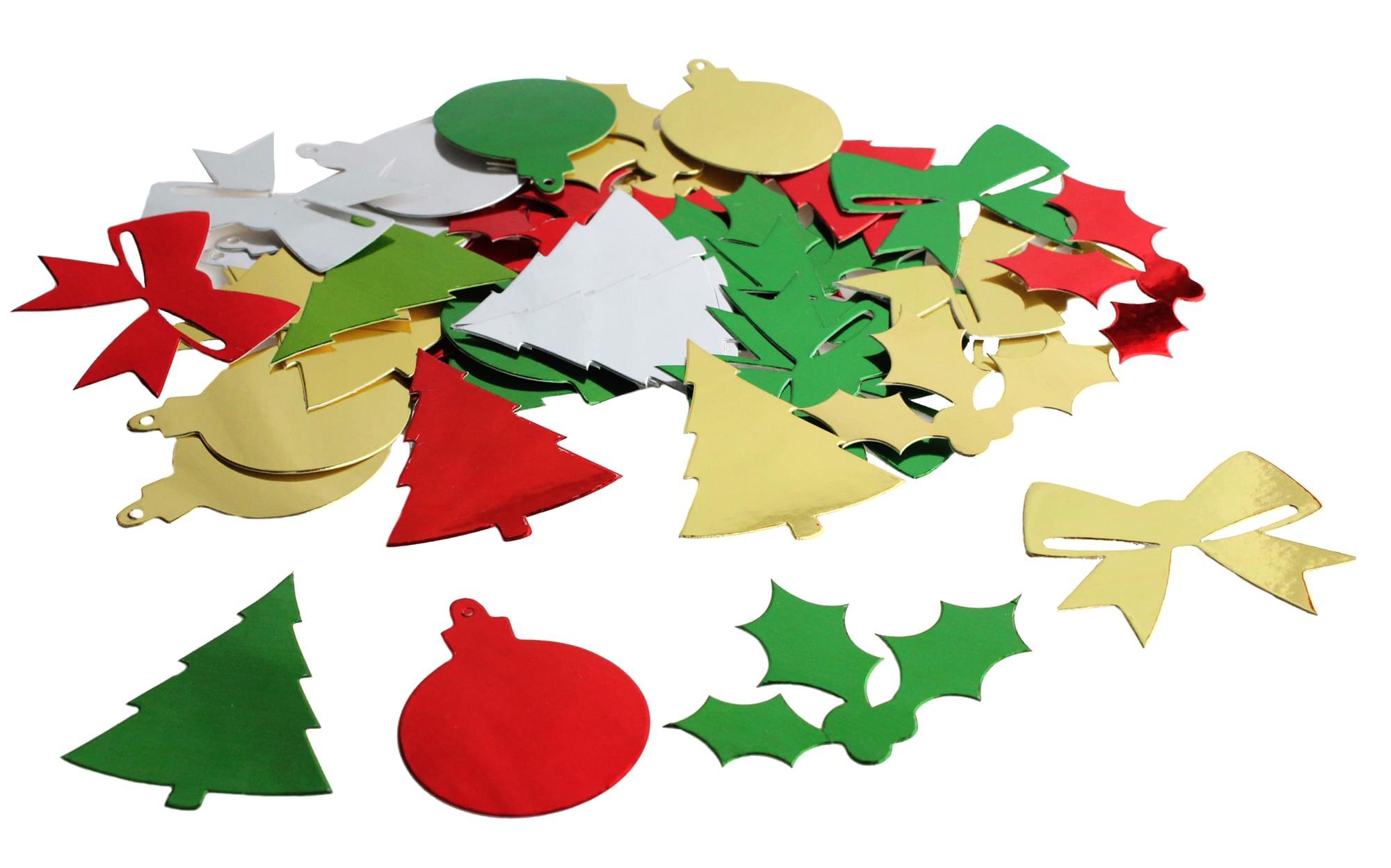 Christmas Shapes.Metallic Christmas Shapes 30g