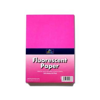 BI1039 Pink Fluorescent Paper A4