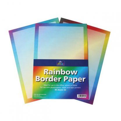 BI1065 Rainbow Border Paper A4