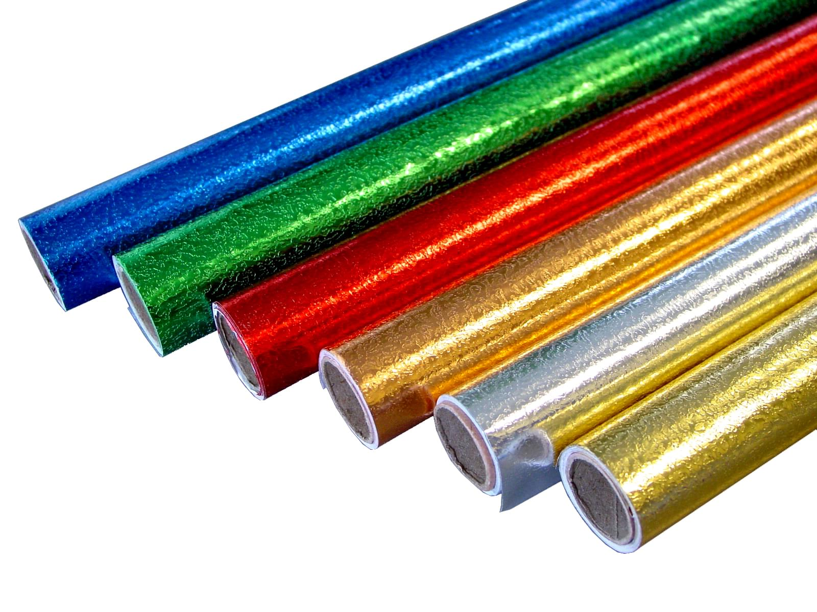 Embossed foil rolls assorted pk6 bright ideas crafts for Silver foil paper craft