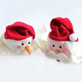 BI2087 Christmas Fleece Santa Snowman Hats