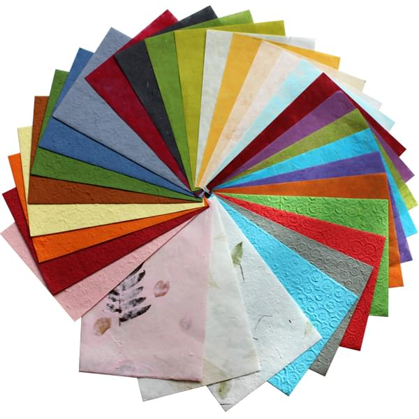 BI2329 Natural Papers pk30 Assorted Sheets