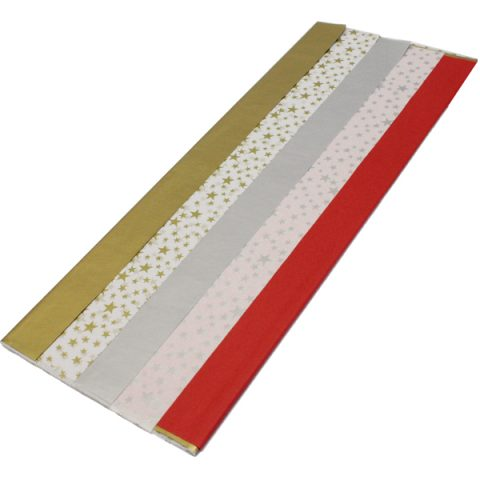 BI2555S Red Gold Silver Tissue Paper