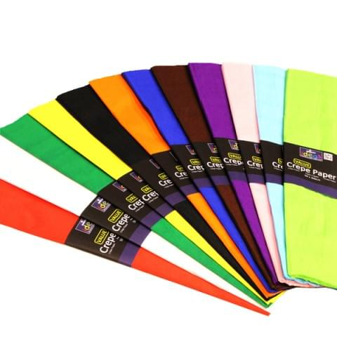 BI2587 Value Crepe Paper pk50 Assorted