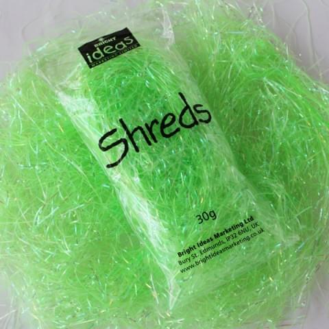 BI2902 Green Iridescent Shreds