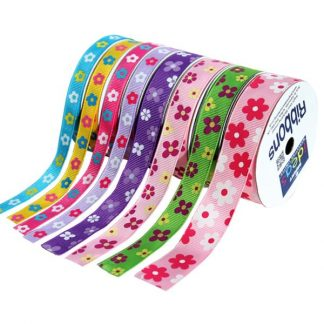 BI3038 Flower Ribbons Set 8 x 3m