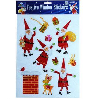 BI7535 Jolly Santa Window Stickers