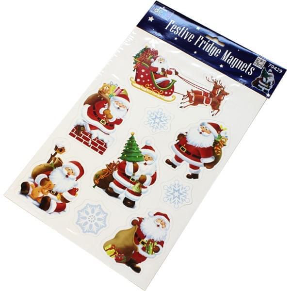 BI7539 Santa Fridge Magnets