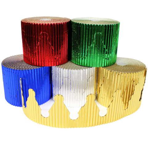 BI7865 Crown Metallic Corrugated Border Rolls