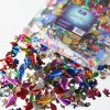 BI7969 Metallic Sequins 500g, assorted colours and shapes