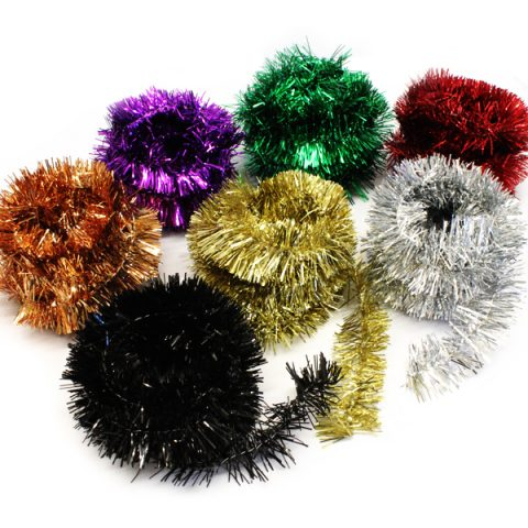 BI7986 Thin Tinsel Garlands 7 x 3m Assorted