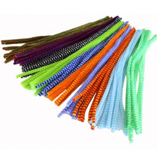 Stripy chenille pipe cleaner stems