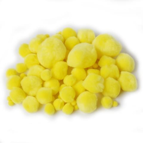 BI8026 Yellow Pom Poms pk100 Assorted