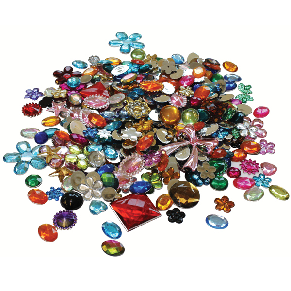 Acrylic jewels gemstones 454g bright ideas crafts for Plastic gems for crafts
