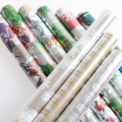 Christmas Cellophane Rolls 70cm x 2m