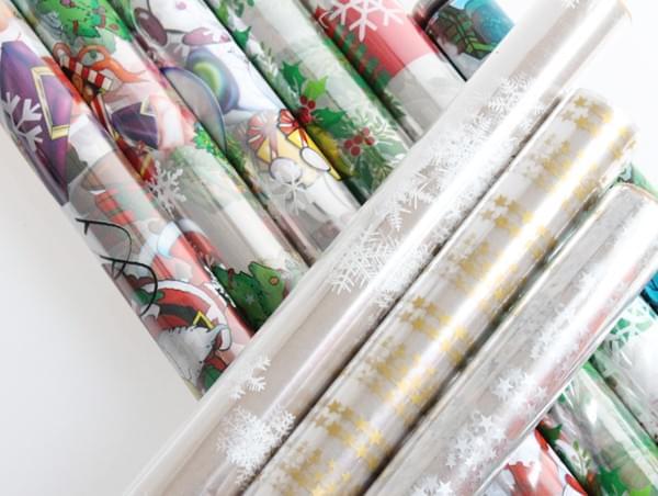 Christmas Cellophane Rolls 70cm x 2m
