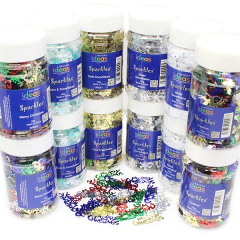 Christmas Confetti Sparkles Jars PK12