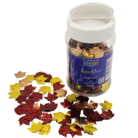 Large Leaf Confetti Sparkles Shaker 80g