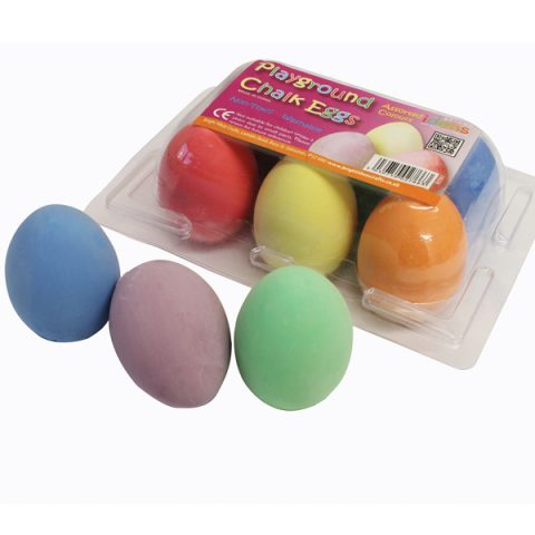 Playground Chalk Eggs pk6