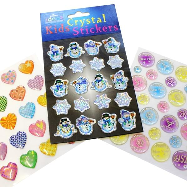 Kids 3D Crystal Stickers Assorted