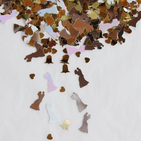 22586342 Bride and Groom Confetti Sparkles 250g