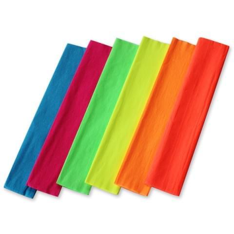 BI0616 Fluorescent Crepe Paper pk6