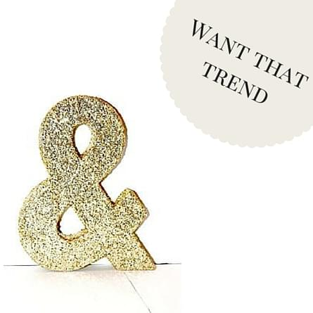 Want that trend- Glitter Letter