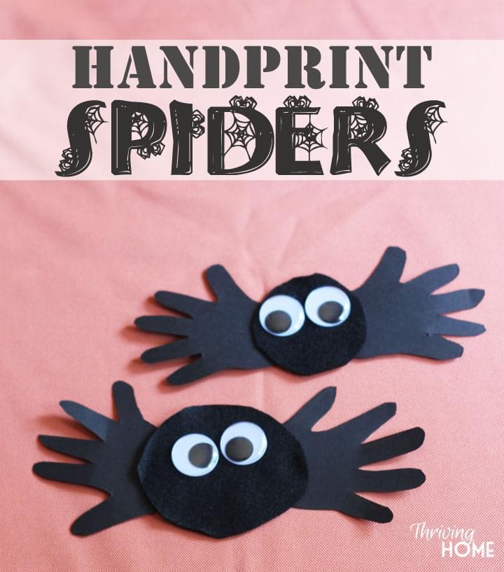 halloween hand print craft - Halloween Crafts Kindergarten