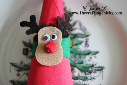 Felt Reindeer napkin holder