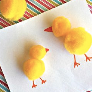 Easter Spring Chicks - Pom Pom Chicks