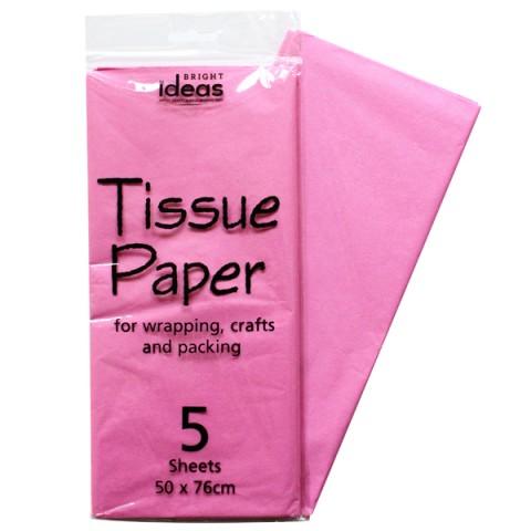 BI0554 Pink Tissue Paper Pk05