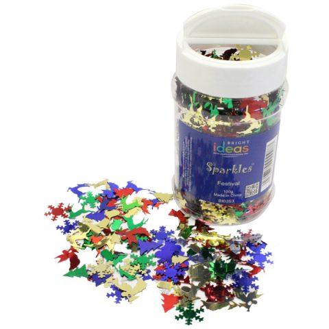 Christmas Confetti Sparkles Shaker 100g
