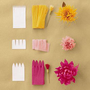 tissue paper flower petals