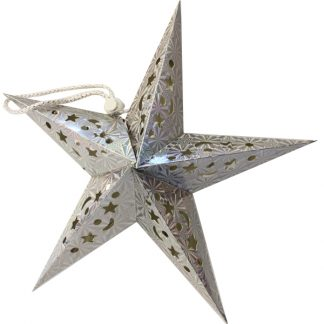 BI2080 Star Hanging Decoration Silver