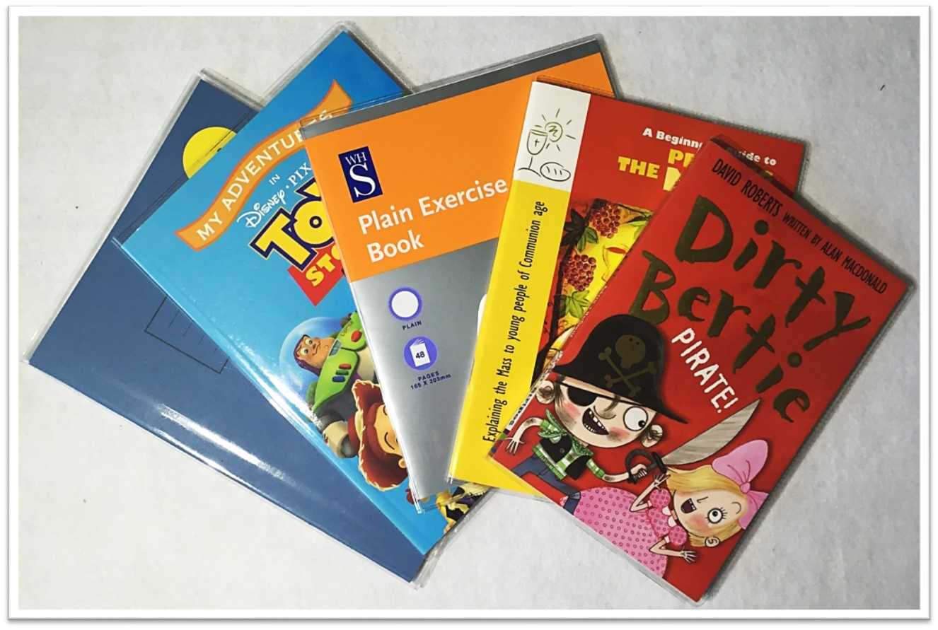 Exercise Book Cover Ideas : Protective pvc clear jacket book covers various sizes