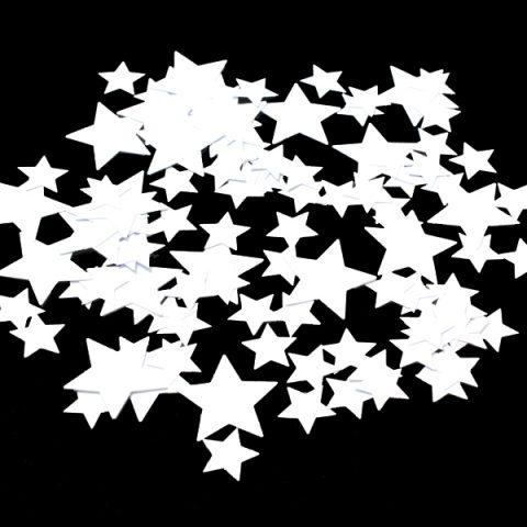 White Stars Confetti Sparkles 100g
