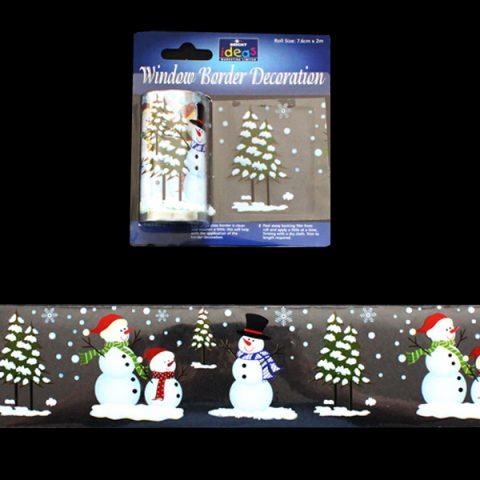 Window Border Snowmen & Trees