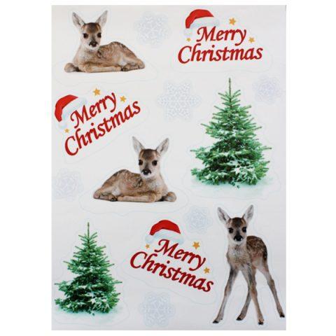 BI7543 Reindeer Window Stickers